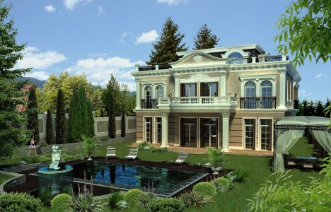 Luxury house, classic home