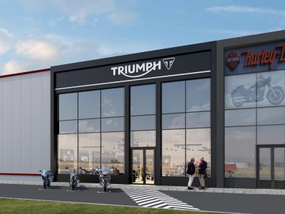 """TRIUMPH"" The showroom for motorcycles, Sofia, Bulgaria 2016"