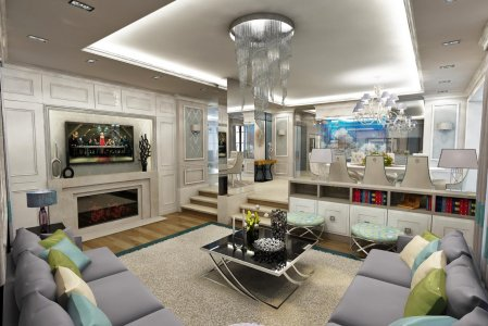 Luxury interior, modern interior house