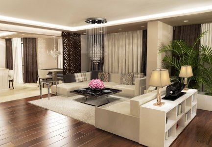 Classic home interior, luxury home, home